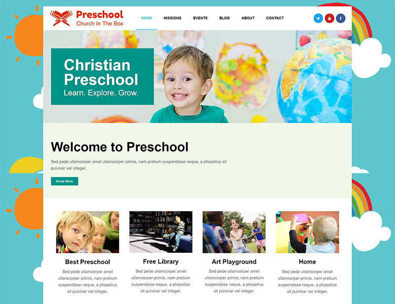Christian Preschool Church Template