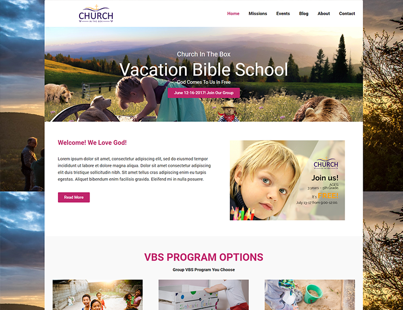 Vocation Bible School Church Template
